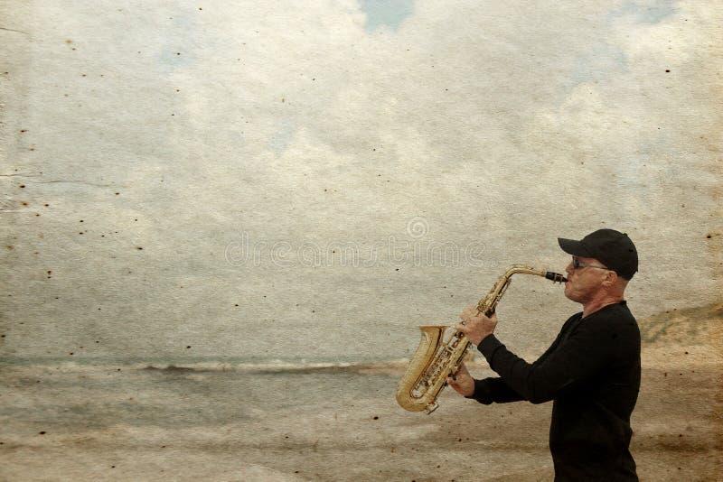 saxofonist arkivbilder