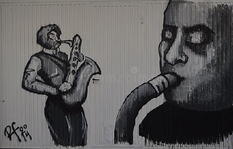 Saxofonista illustration stock