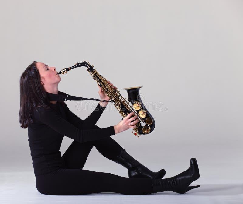 Saxofonista imagen de archivo