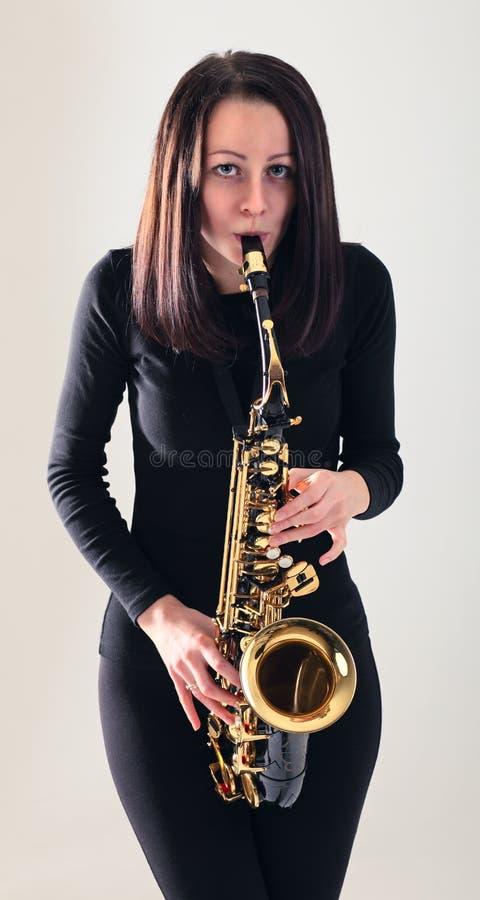 Saxofonista imágenes de archivo libres de regalías