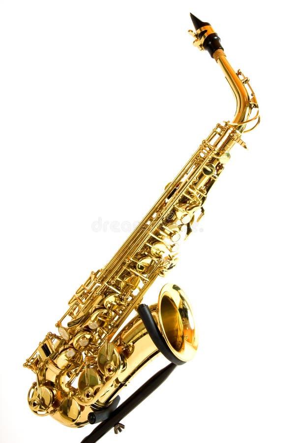 saxofonstand royaltyfri bild