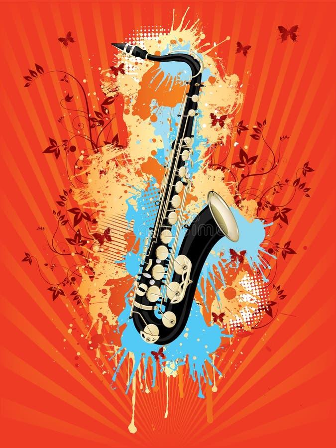 Saxofoon stock illustratie