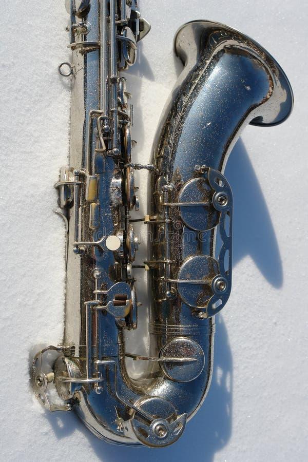 Saxofoon stock afbeelding