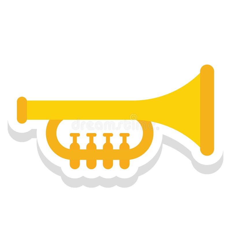 Saxofoon, trompet Vectorpictogram dat gemakkelijk kan worden gewijzigd of uitgeven royalty-vrije illustratie