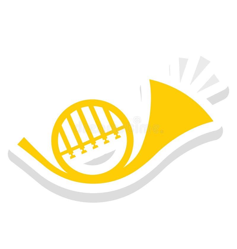 Saxofoon, trompet Vectorpictogram dat gemakkelijk kan worden gewijzigd of uitgeven vector illustratie
