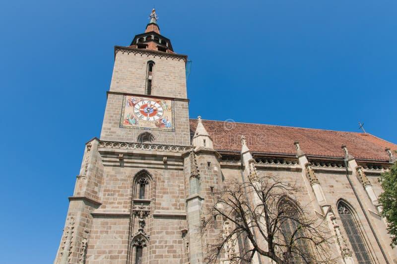 Saxon church. Old saxon church in the medieval town stock photos