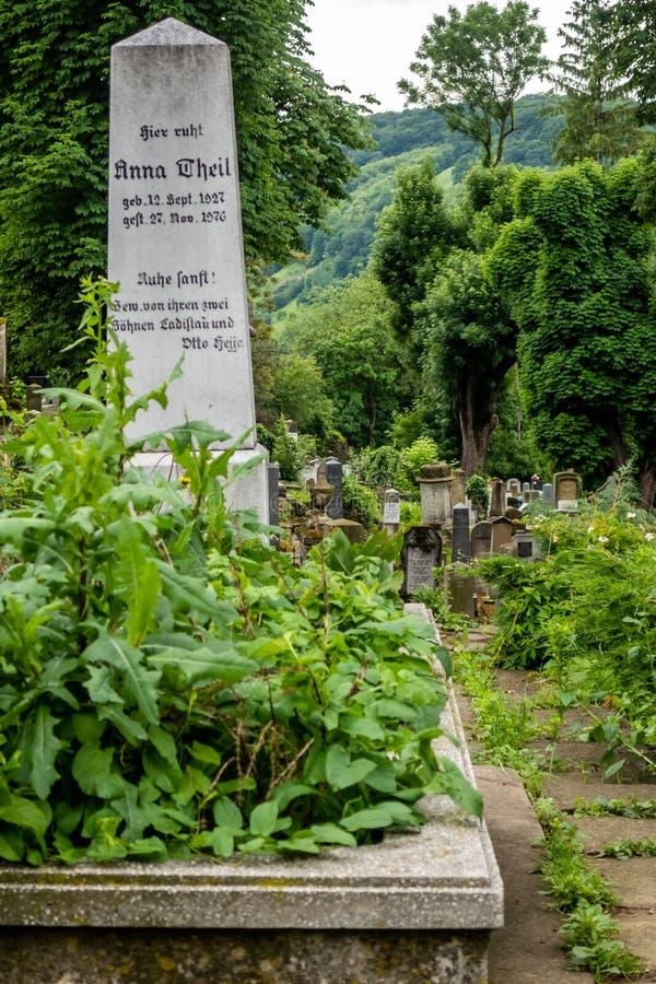 The German Saxon Cemetery Din Deal On The Hill, SighiÈ™oara, Transylvania, Romania stock photo