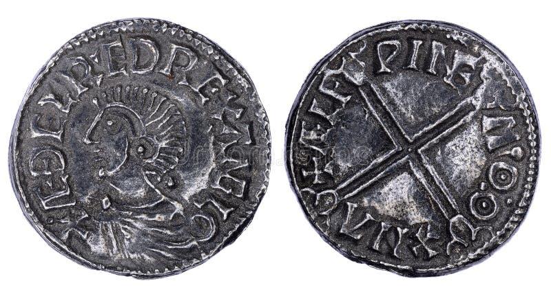 Saxon Penny Coin Isolated photographie stock libre de droits