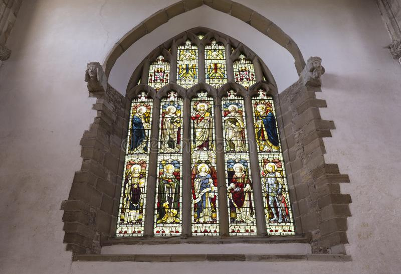 Saxon Sanctuary Stained Glass Window stock image