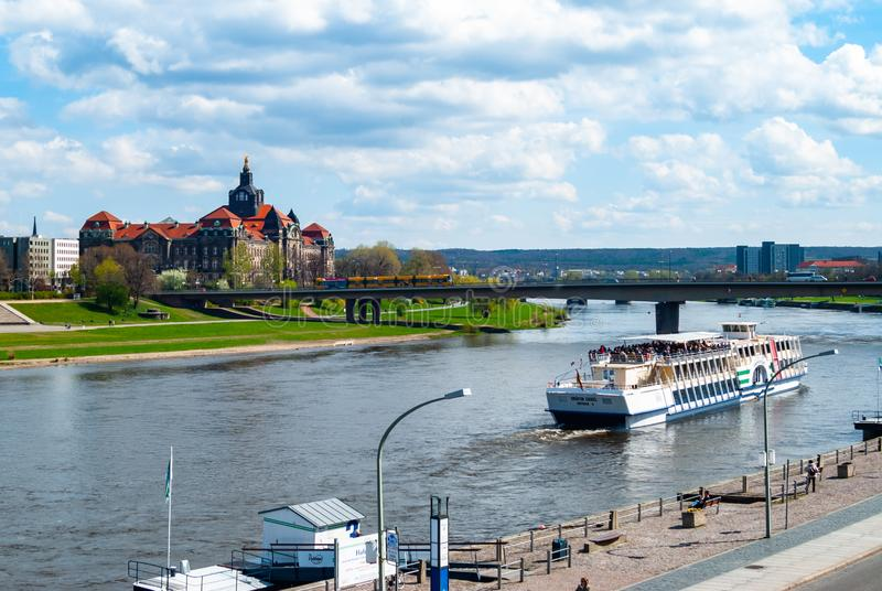 The Saxon State Chancellery in Dresden, Germany. The Saxon State Chancellery on Elbe quay in Dresden, Germany, landmark, attraction, building, capital, city stock photo