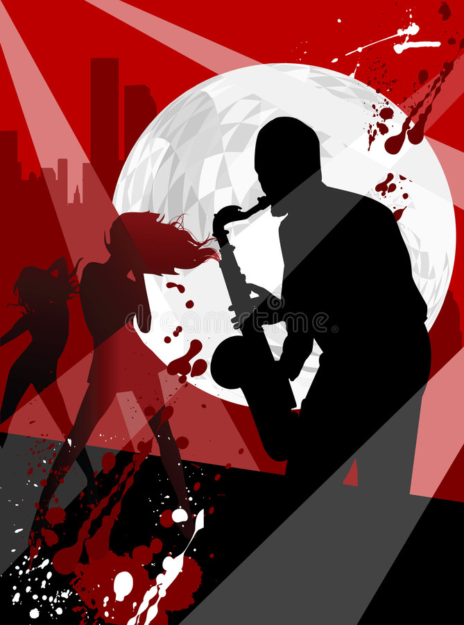 Saxophon stock abbildung