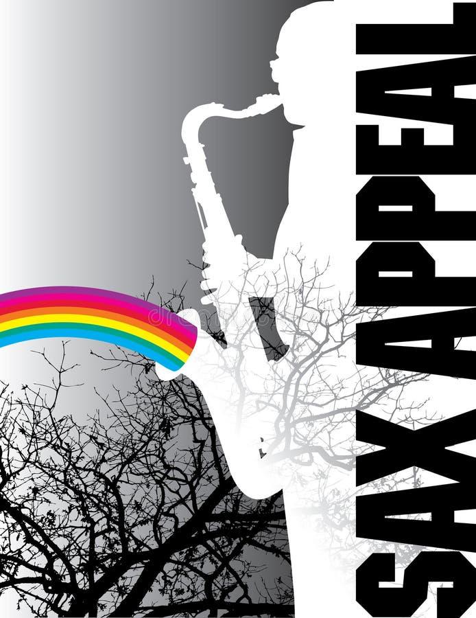 Saxophon-Plakat-Auslegung lizenzfreie abbildung