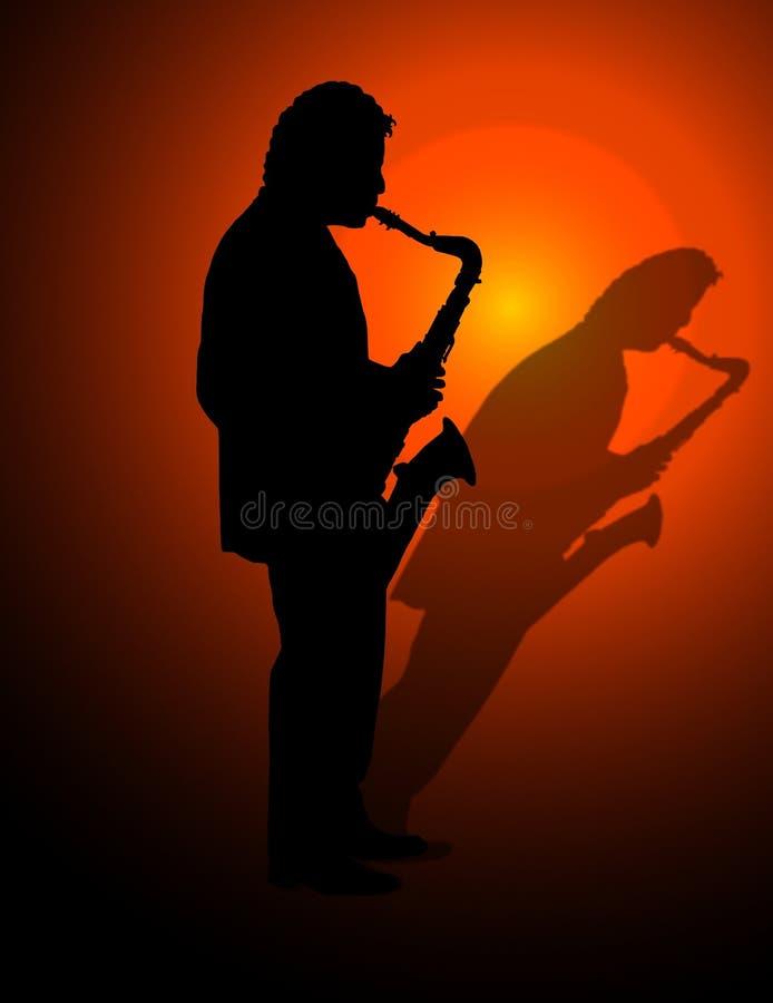 Saxophon-Spieler vektor abbildung