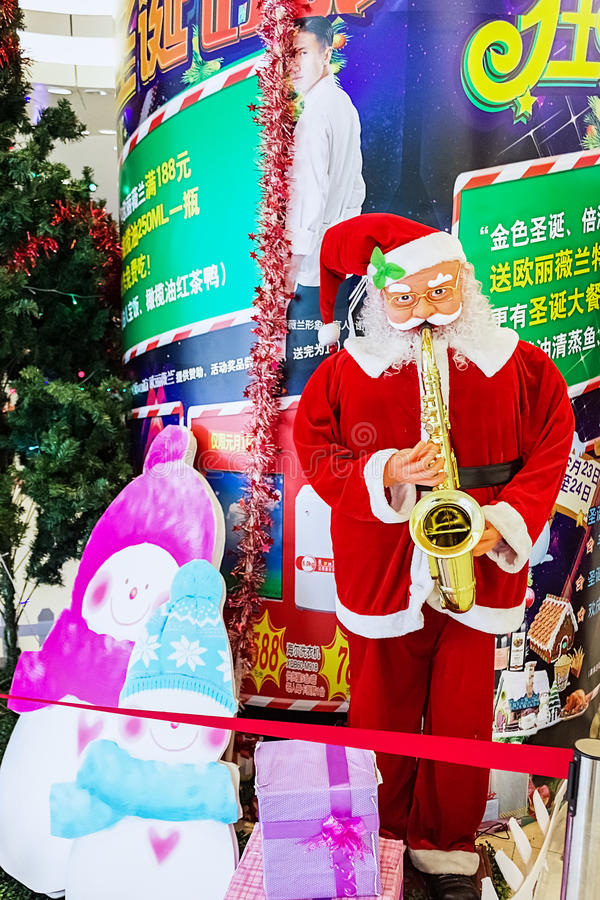 Saxophone Άγιου Βασίλη στοκ φωτογραφία