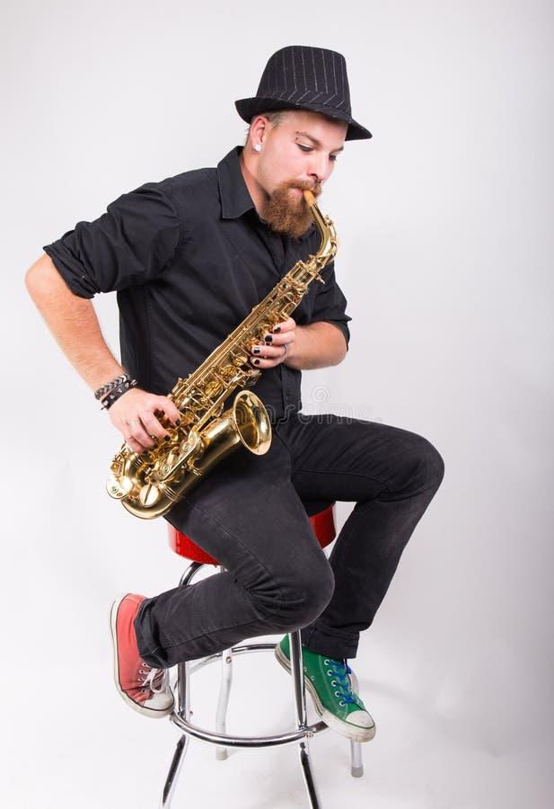saxophone ατόμων στοκ φωτογραφίες με δικαίωμα ελεύθερης χρήσης