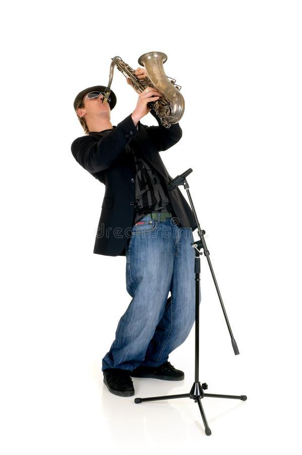 saxophone εκτελεστών μουσικής στοκ εικόνα με δικαίωμα ελεύθερης χρήσης