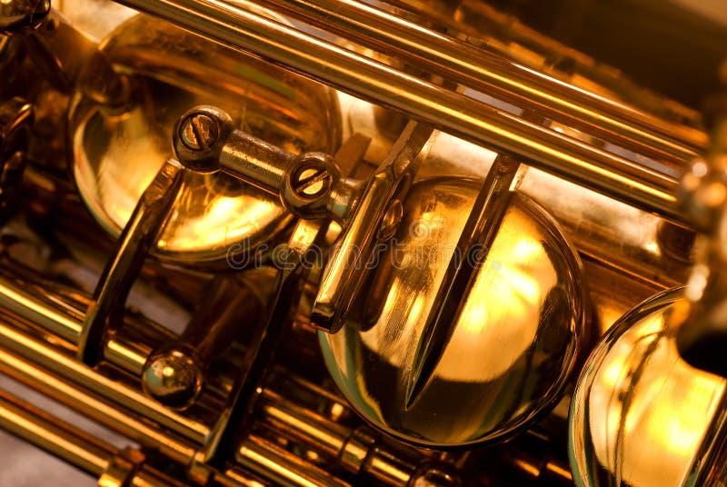 saxophone λεπτομέρειας ALT στοκ φωτογραφία