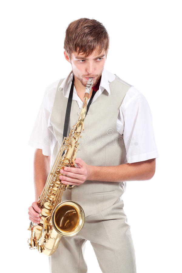 saxophone παιχνιδιού στοκ εικόνα