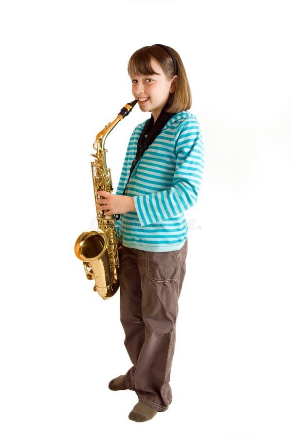 saxophone πρακτικής στοκ φωτογραφία με δικαίωμα ελεύθερης χρήσης