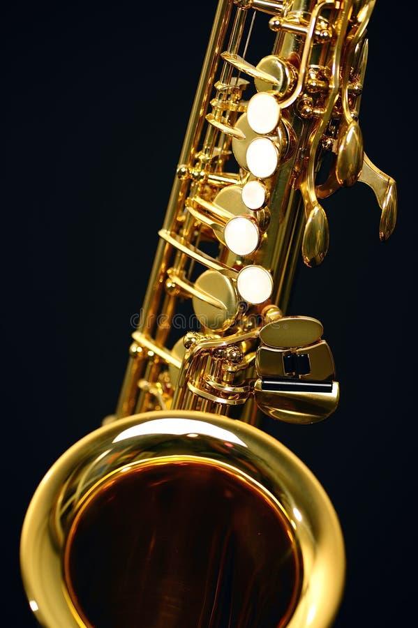 Saxophone. A part of the ALT saxophone stock photo