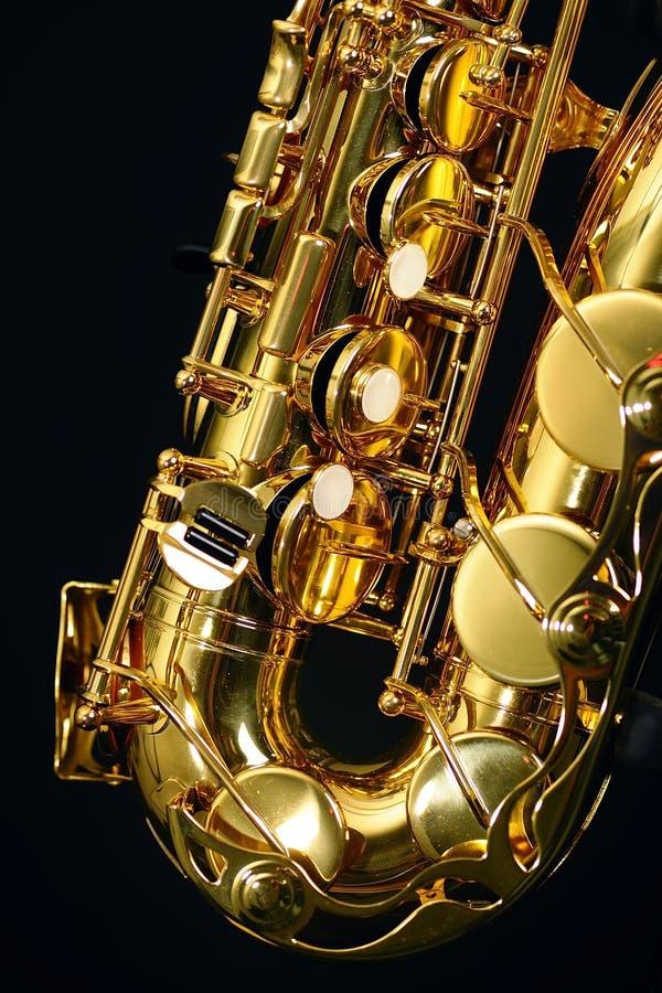 Saxophone. A part of the ALT saxophone stock image