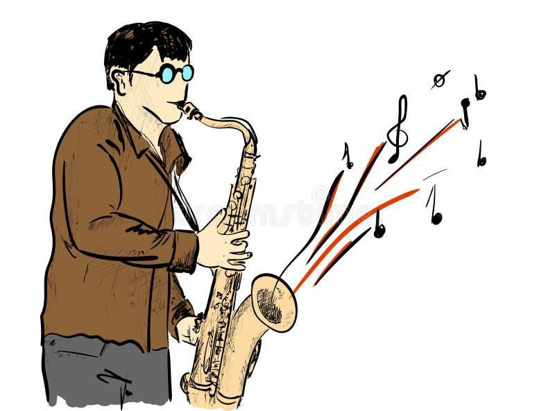 saxophone royalty-vrije illustratie