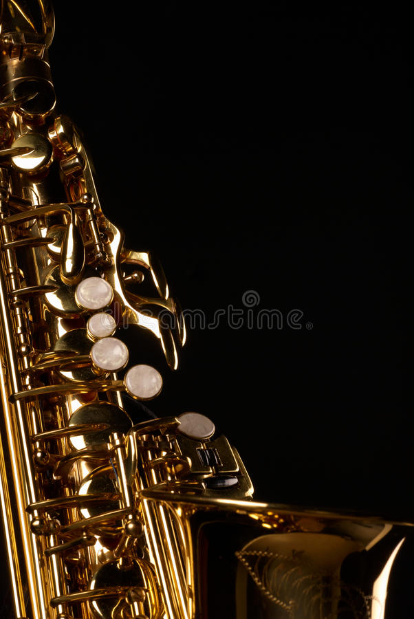 Download Saxophone stock image. Image of lever, background, metal - 15456027