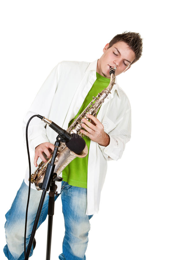 Download Saxophone stock photo. Image of casual, single, white - 29023726