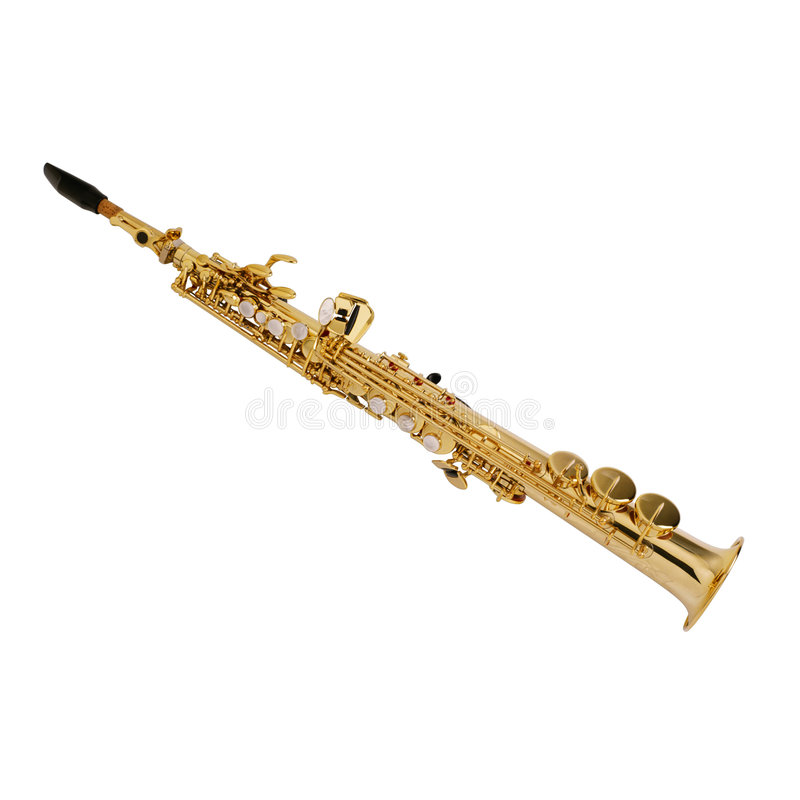 Saxophone-3. This is a White Background Saxophone royalty free stock image