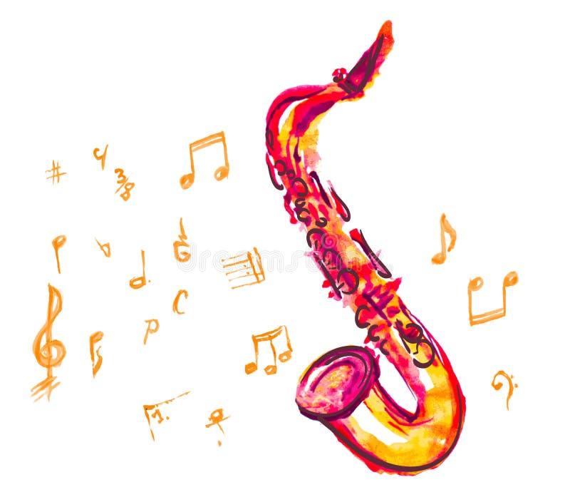 saxophone stock illustratie