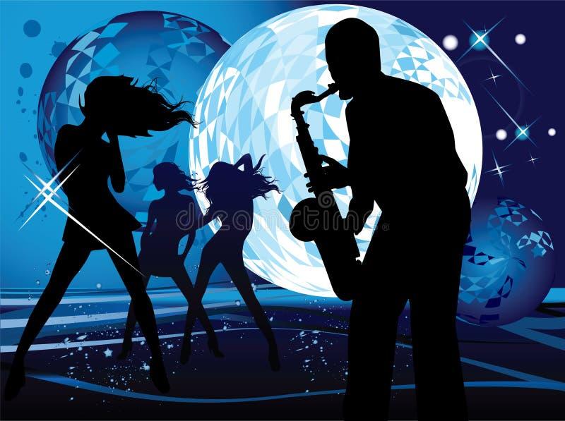 Download Saxophone stock vector. Illustration of saxophone, night - 6502336