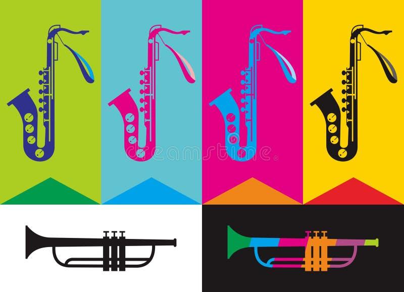 saxophone vector illustratie