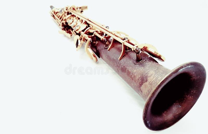 Saxophone de soprano photographie stock