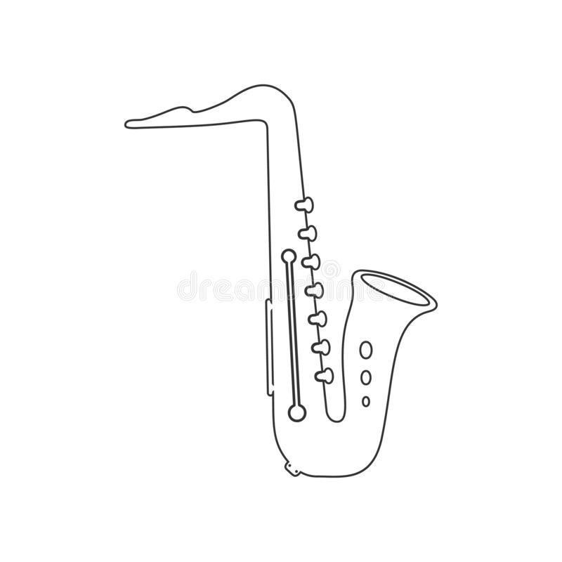 saxophone icon. Element of zoo for mobile concept and web apps icon. Outline, thin line icon for website design and development, stock illustration