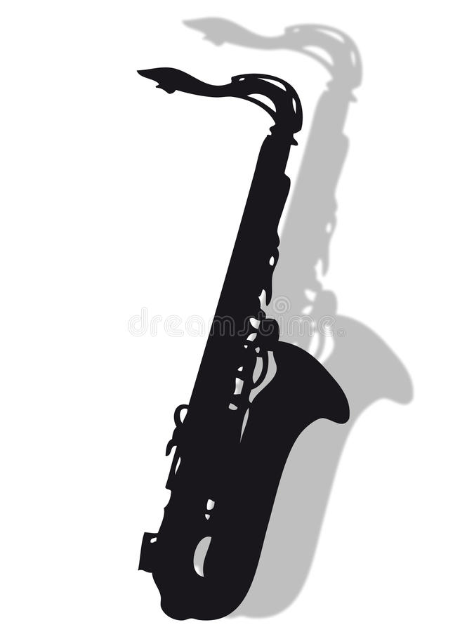 Free Saxophone In Silhouette Stock Images - 12184814
