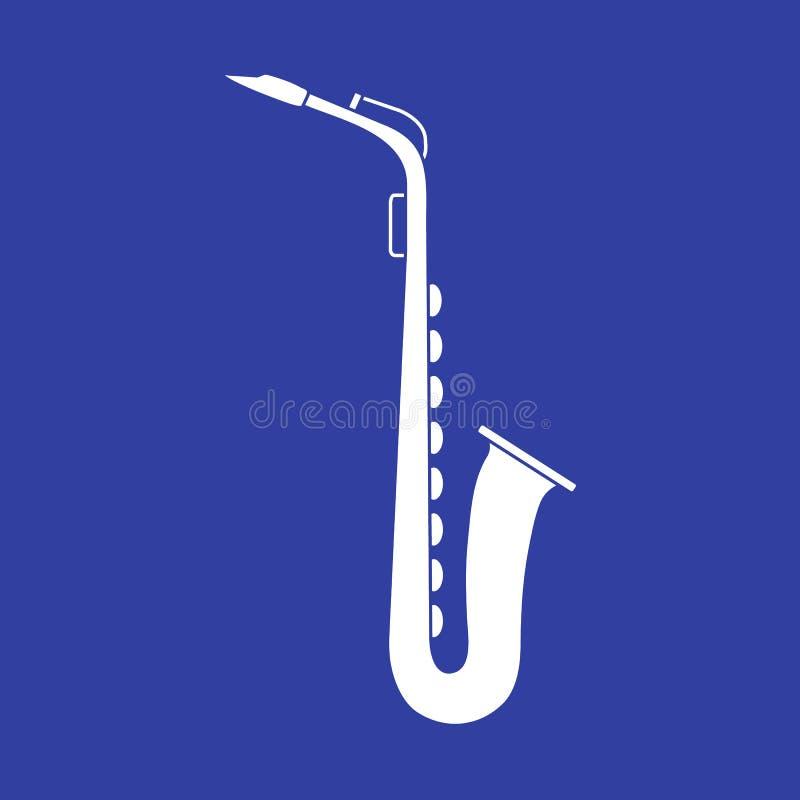 saxophone Klassiek muziekblaasinstrument vector illustratie