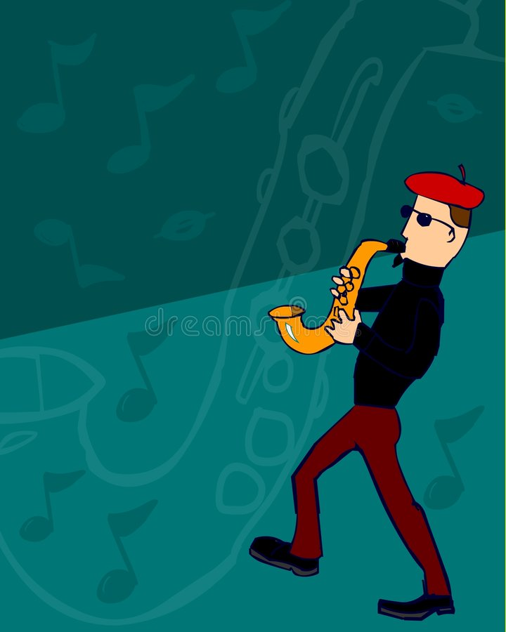 Download Saxophone Man stock illustration. Illustration of bass - 1732811