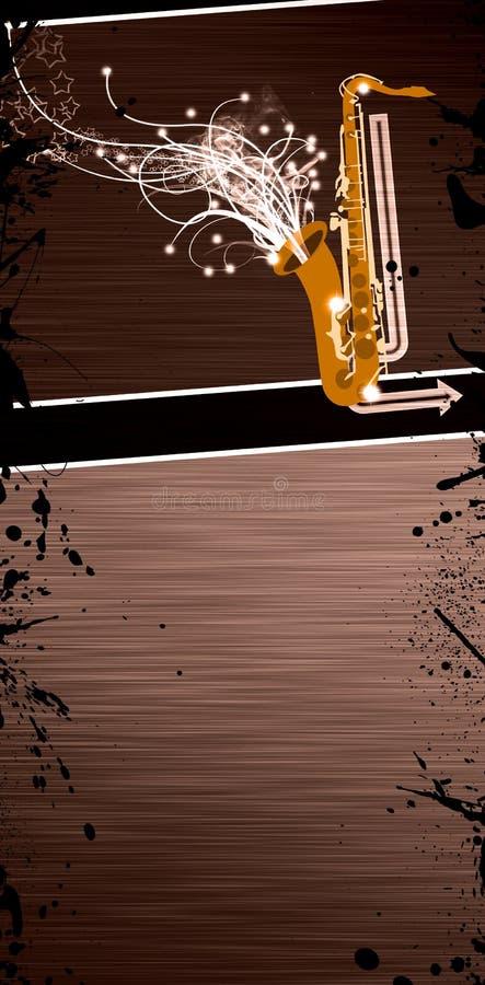 Download Saxophone music background stock illustration. Image of instruments - 26263727