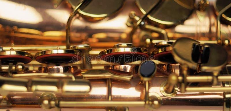 saxophone Parte del primer del saxofón foto de archivo libre de regalías
