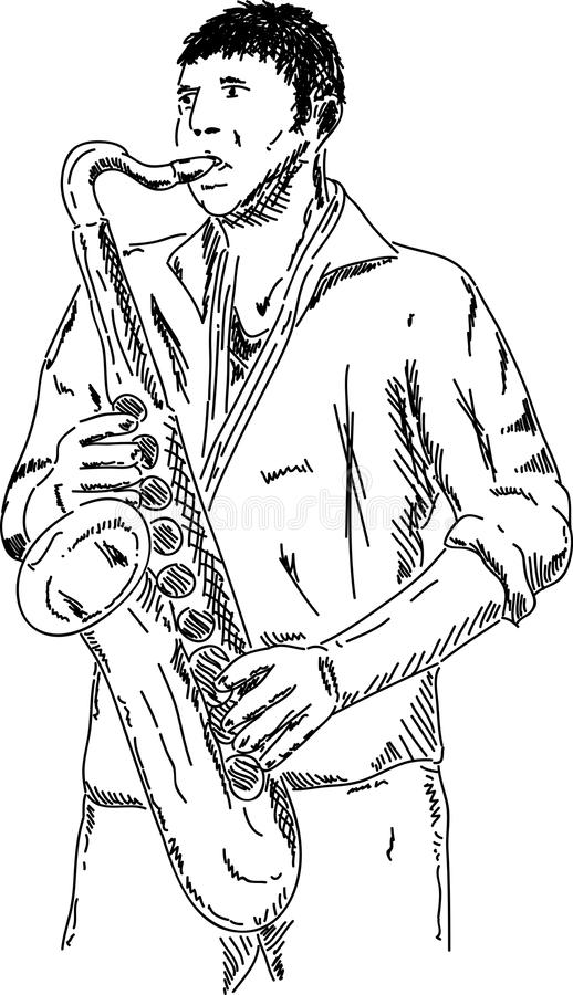 Download Saxophone player stock vector. Illustration of musician - 18362503