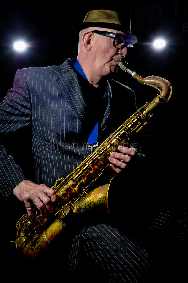 Download Saxophone Player editorial stock photo. Image of lights - 26674688