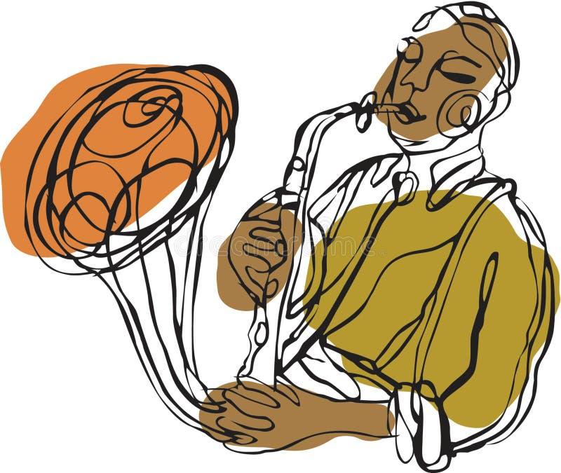A saxophone player vector illustration