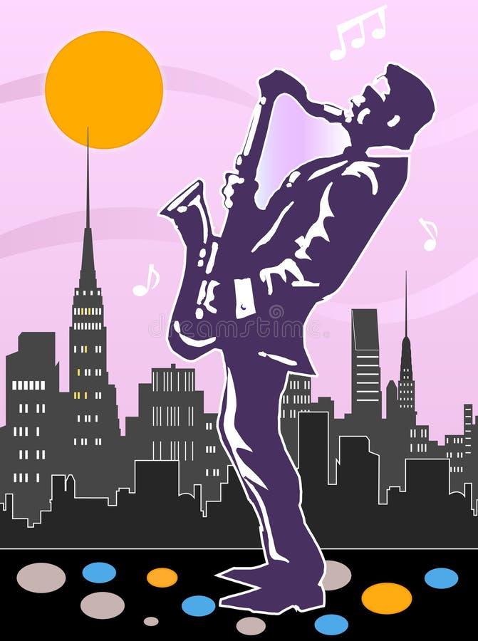 Saxophone player design royalty free illustration