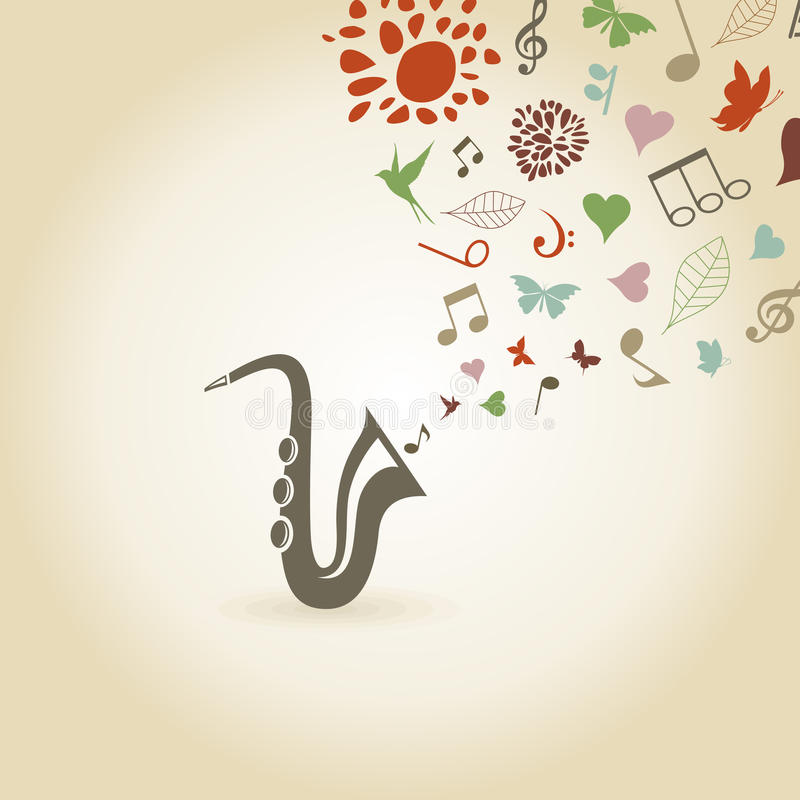 Saxophone2 royalty free illustration