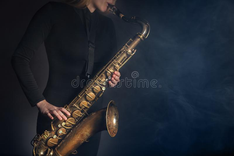 Saxophone royalty free stock photography