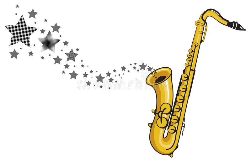 saxophone with star coming out vector stock vector Trombone Clip Art Free Trombone Clip Art Free