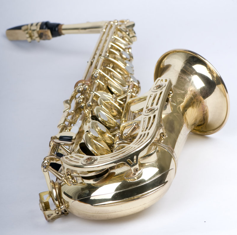 Download Saxophone supine stock photo. Image of sound, metal, musical - 5758664