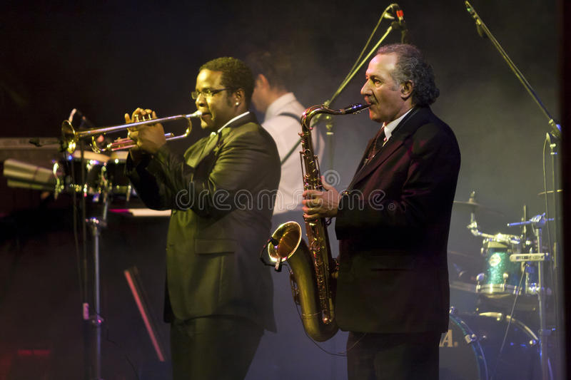 Saxophone and Trumpet Players at the Vienna Ball