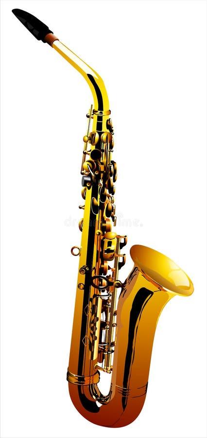 Saxophone (Vector) vector illustration
