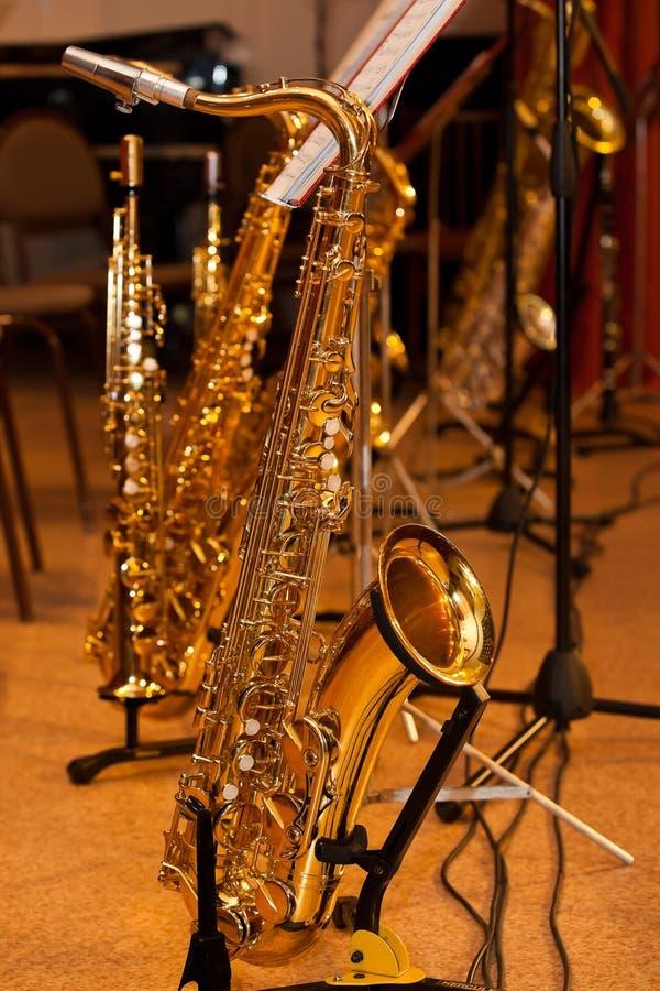 saxophones images stock